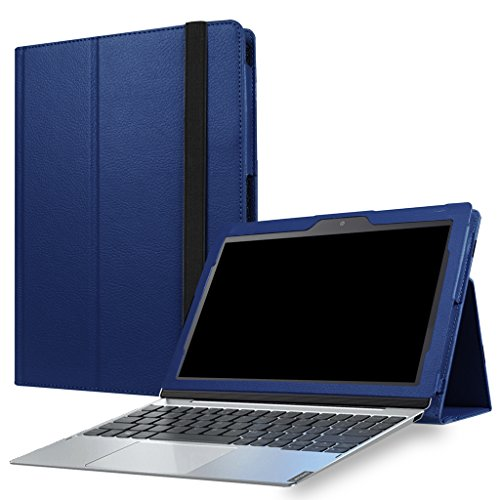 Lenovo MIIX 320 Case,Mama Mouth PU Leather Folio Stand Cover for 10.1 Lenovo MIIX 320 (10.1 Inch HD IPS Touch) 2in1 Tablet (with Auto Sleep/Wake Feature),Dark Blue