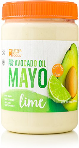 BetterBody Foods Avocado Oil Mayonnaise with Lime, 28 Ounce - Avocado Oil Mayo w/Lime is made with 100% Avocado Oil Non-GMO Cage-Free Eggs Soy & Canola-Free Paleo