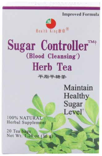Diabetes Tea - Health King Sugar Controller Herb Tea, Teabags, 20 Count Box
