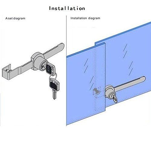 Dreamtop Cabinet Sliding Glass Door Lock Reptile Vivarium