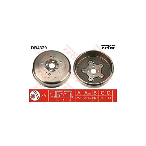 TRW DB4329 Brake Drums:
