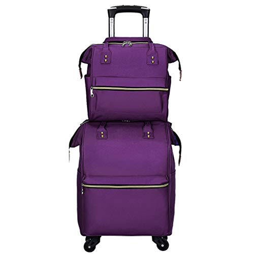 For Lightweight Trip Cloth Zxc 2 purple Oxford Portable Package Trolley Business Multifunction Travel Bag Durable 4R3q5LAj