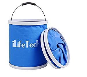 iLifeTech Collapsible Camp Bucket, 9L/2.4Gal Portable Water Bag