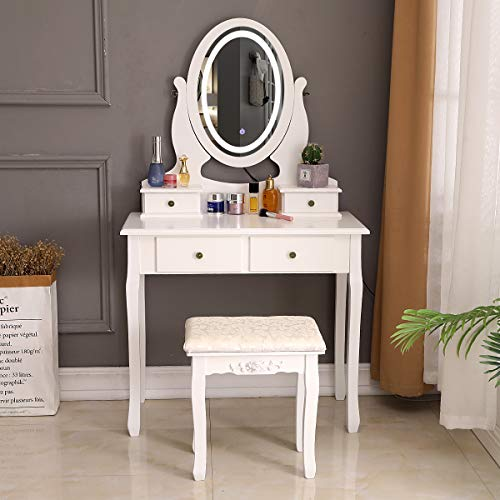 Bonnlo White Vanity Set