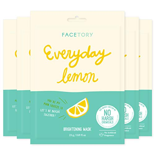 Everyday Lemon Brightening Mask With No Harsh Chemicals - Brightening, Clarifying, Balancing (Pack of 5)