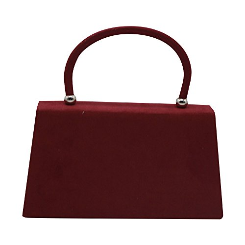 Bag Bag Coral Clutch Suede Prom Cckuu Handbag Women's Envelope Velvet Evening Burgundy Shoulder qvgZwI
