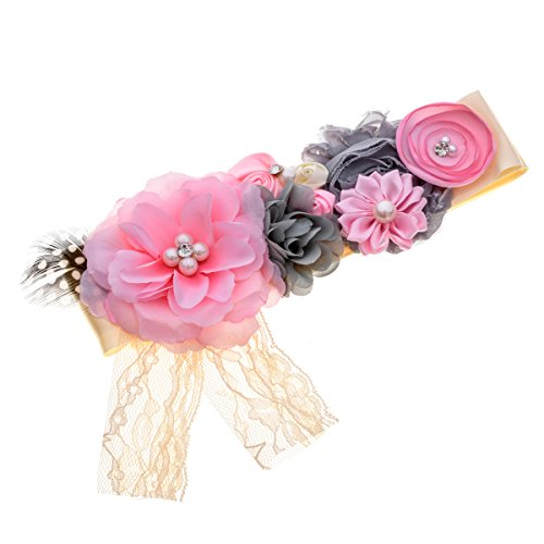 Love Belt (Love Sweety Maternity Pregnancy Sash Flower Belt Baby Shower Accessories (1# Pink))