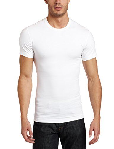 2(x)ist mens Shapewear Form Crew Neck T-Shirt, White, Small