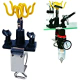 Master Airbrush® Brand Universal Clamp-on Airbrush Holder. Holds up to 4 Airbrushes and All Brands, Master, Iwata, Paasche, Badger, Grex and Generics