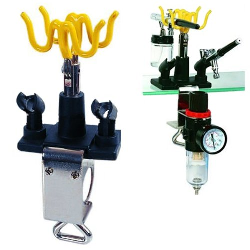 Master Airbrush® Brand Universal Clamp-on Airbrush Holder. Holds up to 4 Airbrushes and All Brands, Master, Iwata, Paasche, Badger, Grex and Generics 4336951448
