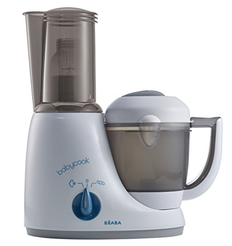 Price comparison product image BEABA Babycook Original Plus 6 in 1 Steam Cooker, Blender, and Bottle Warmer, 3.5 cups, Dishwasher Safe, Peacock