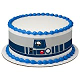 "8"" Round Star Wars R2D2 Designer Strips Edible Cake for sale  Delivered anywhere in USA"