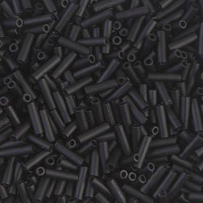 Miyuki Bugle Beads (Miyuki Bugle Beads 6mm Matte Black 8.5 grams BGL2-401F)