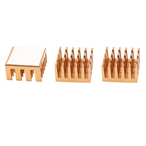 uxcell 3 Pcs Copper Tone Aluminum Heatsink for Motherboard DDR VGA RAM Memory IC Cooler
