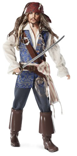 Barbie Collector Pirates of The Caribbean: On Stranger Tides Captain Jack Sparrow Doll -