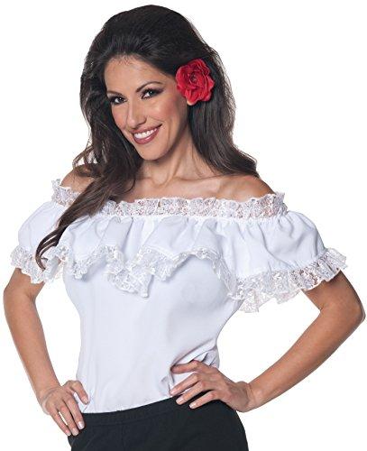 Underwraps Women's Senorita Blouse, White, Small -