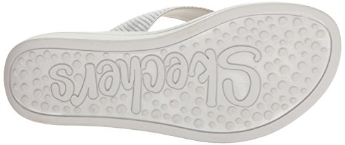Flip Women's Silver White Upgrades Parent Skechers US Flop cFwqE1nxW