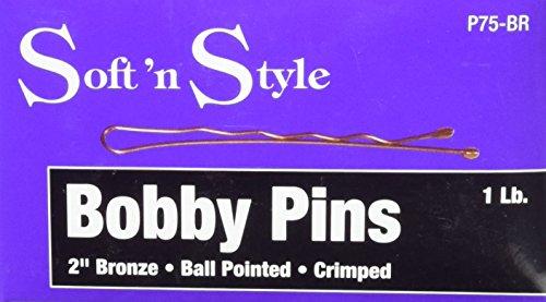 Soft 'N Style Bronze Bobby Pin Box, 1 lb, 2