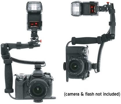 Precision Design Quick Flip Rotating FB350 Flash Bracket for Digital SLR Cameras and Speedlight Flashes