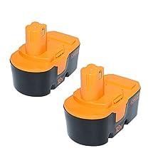 efluky 2Pack 3.0Ah 18V Power Tool Replacement Battery for Ryobi ABP1801 ABP1803 BCP1817/2SM BPP-1813 BPP-1815 BPP-1817 BPP-1817/2 BPP-1817M BPP-1820
