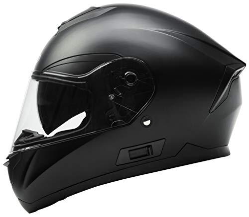Motorradhelm Integralhelm Rollerhelm Fullface Helm – YEMA YM-831 Sturzhelm ECE mit Doppelvisier Sonnenblende für Damen…
