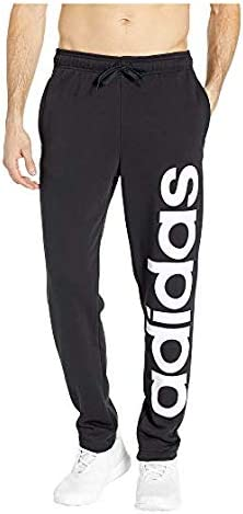 [adidas(アディダス)] メンズウェア・ジャケット等 Essentials Branded Tapered Pants Black/White US SM (S) 32 [並行輸入品]
