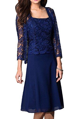 2017 Neu Brautmutterkleider Royalblau Elegant Ivydressing Jacke mit Spitze KnieKnielang Abendkleider Rund Grape xq6YWgtB