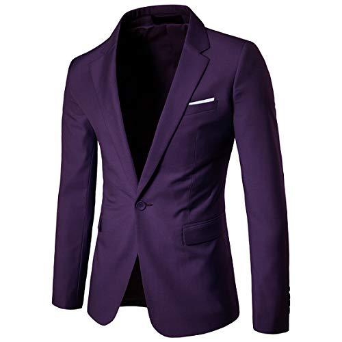 Cloudstyle Men's Suit Jacket One Button Slim Fit Sport Coat Business Daily ()