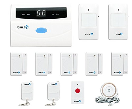 Fortress Security Store (TM) S02-A Wireless Home and Business Security Alarm System DIY Kit with Auto Dial, Motion Detectors, Panic Button and More for Complete Security (Adt Control Panel compare prices)