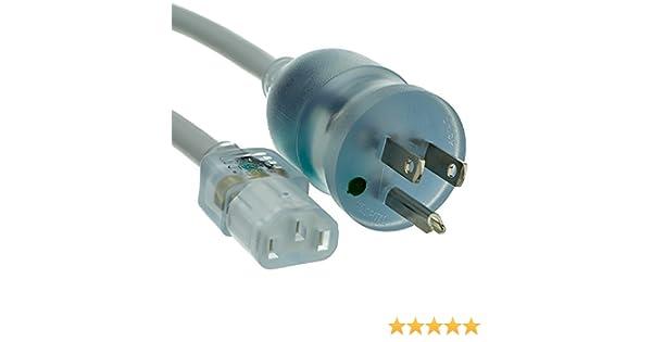 Green Dot 14 AWG 15 Amp //125 Volt CNE48209 Power Cord 6-Feet SJT Nema 5-15 to C13 C/&E Hospital Grade
