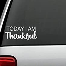 H1040 Thankful GOD Believe Faith Love 8.5 Inches White Decal Sticker
