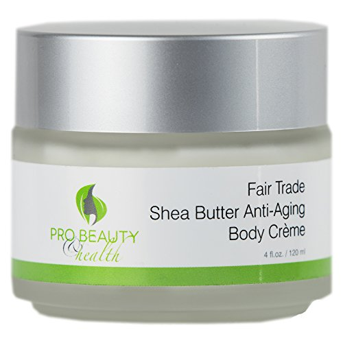 Fair Trade Whipped Shea Butter Anti-Aging Cream with Aloe Vera, Jojoba and Rose Hip Oil - Skin Nourishing, Pure Unrefined, Cold-Pressed, Natural and Organic, 4 Fl Oz