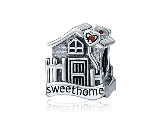 (MiniJewelry Family House Love Heart Sweet Home Charm for Bracelets)