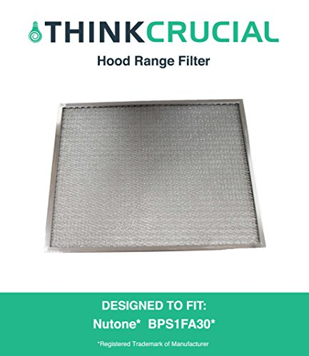 Broan Nutone Hood Range Filter Fits 30-Inch QS1 & WS1, Part # BPS1FA30, Designed & Engineered by Crucial Air