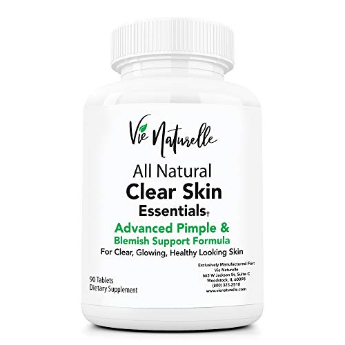 Acne Vitamins Supplements for Acne Treatment - 90 Natural Supplement Pills for Men