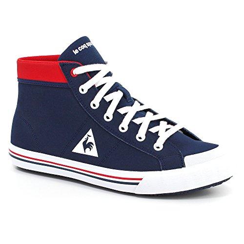 Le Coq Sportif - Zapatillas de cuero nobuck para niño Azul azul