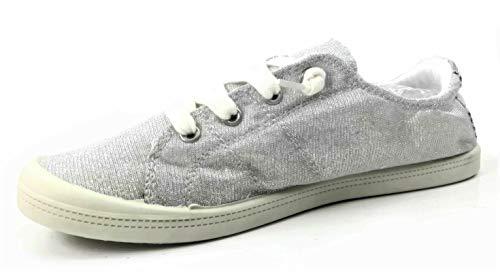 Forever Link Women's Classic Slip-On Comfort Fashion Sneaker, Black, -