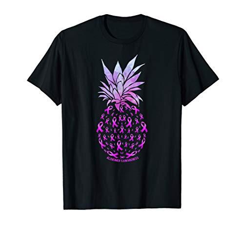 Pineapple ALZHEIMER'S AWARENESS Tee Shirt