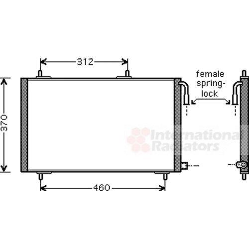 Van Wezel 40005257 Condenser, Air Conditioning VAN WEZEL GMBH