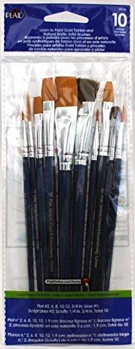Plaid Enterprises, Inc. 50536E Plaid Learn to Paint Premium Brush Set, 50536 (10-Piece), 1-(Pack) ()