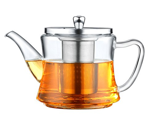 Amazon Lightning Deal 72% claimed: Multifunctional Glass Teapot: For Making Tea and Boiling Tea, Applicable for Electromagnetic Oven, Gas Stove, Electric Ceramic Cooker and Lightwave Oven