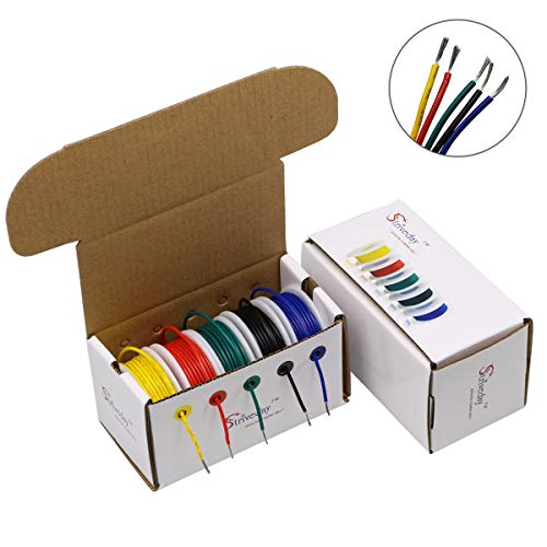 - StrivedayTM 30 AWG Electric wire cable 30gauge electrical wires pvc stranded hookup cables kit
