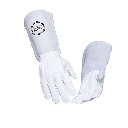 Welding Gloves Tig Mig Long Sleeve Goat Cow Real Leather General Purpose Unlined One Size