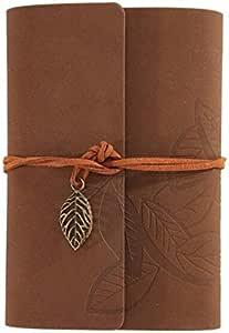 Cuadernos de cuero Libro de bocetos de cuerdas sueltas de