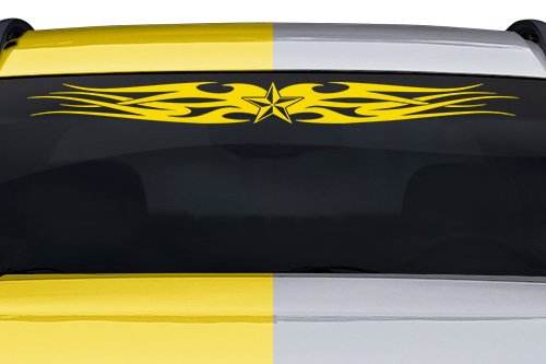 Sticky Creations - Design #109-01 Nautical Star Tribal Flame Swoosh Windshield Decal Sticker Vinyl Graphic Back Rear Window Banner Tailgate Car Truck SUV Trailer | 36