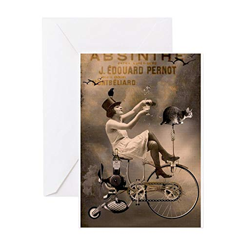 - CafePress Absinthe Liquor Greeting Cards Greeting Card, Note Card, Birthday Card, Blank Inside Glossy