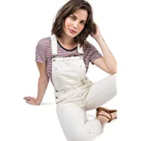 Jardineira Jeans Off White