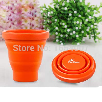 HURA Outdoor Tablewares - Piece 0.2L Camping Silicon Folding Mug Portable Outdoor Camping Tableware Cup Bottle Fire Maple FMP-319 44g 1 PCs