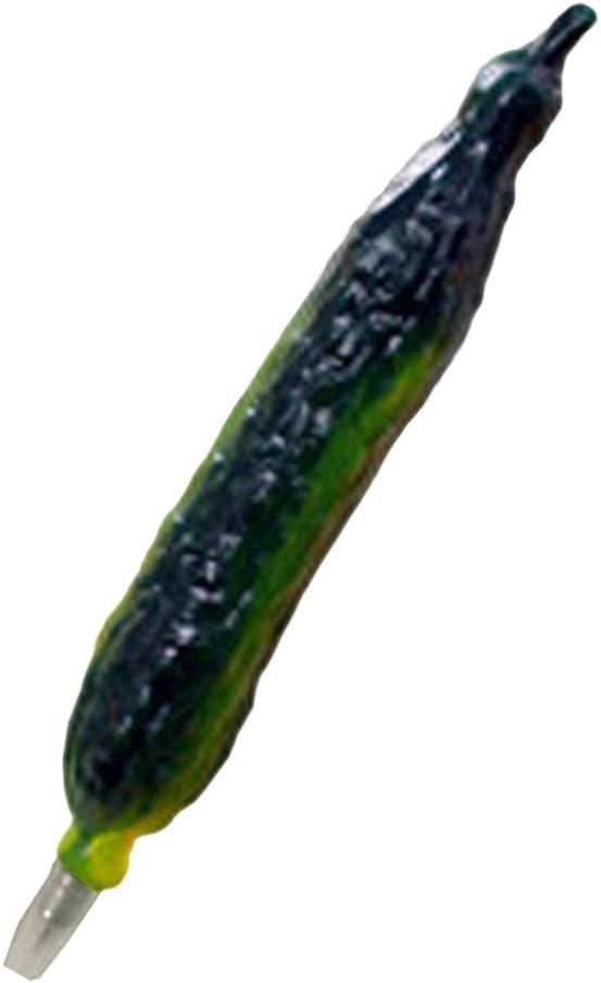TOYANDONA Creative Ballpoint Pens Cucumber Vegetable Shape Magnetic Balls Pens Home School Office Children Kids Adults Stationery Supplies
