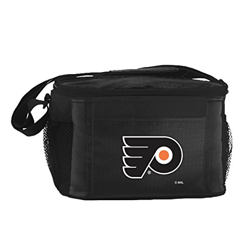 ers Team Logo 6 Can Cooler Bag or Lunch Box - Black (Philadelphia Flyers Ice)